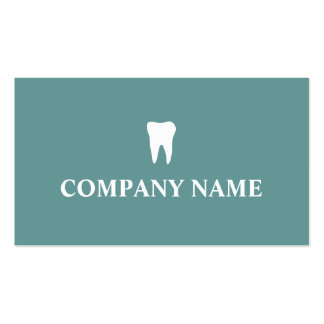 Dentist business card template with tooth logo