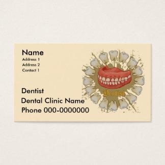 Dentist Caduceus Business Card