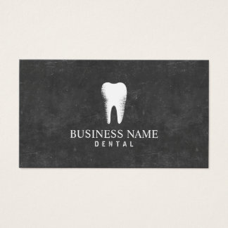Dentist Chalkboard Dental Care Appointment Business Card