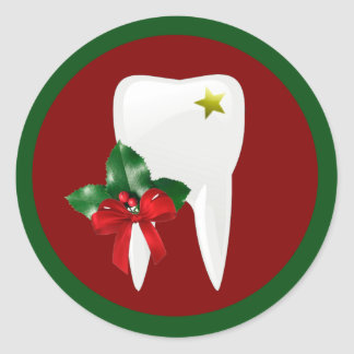 Dentist Christmas Sticker