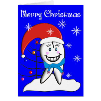 Dentist Christmas Toot CardsWith Tooth Decorations Card
