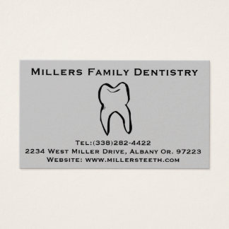Dentist Dental Business and Appointment Card