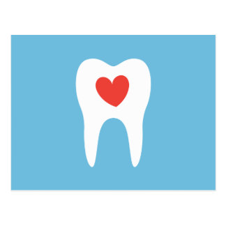 Dentist dental clinic appointment reminder, blue postcard