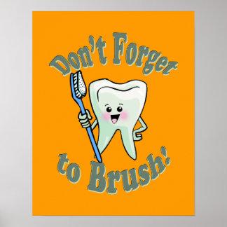 Dentist Dental Hygienist Artwork Poster