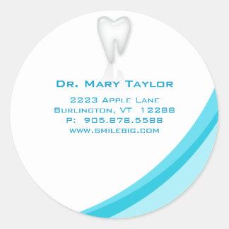 Dentist Dental Molar Tooth Sticker Turquoise curve