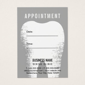 Dentist Dental Office Appointment Reminder Business Card