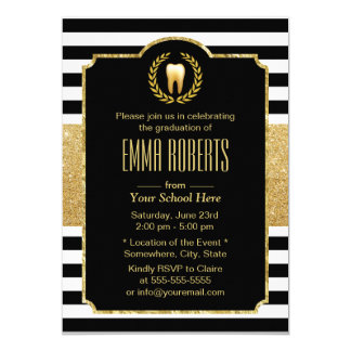 Dentist Dental School Graduation Modern Stripes Card