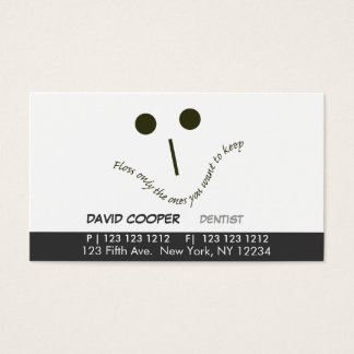 Dentist Flossy Face Business Card