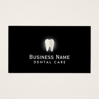 Dentist Glowing Tooth icon Professional Dental Business Card