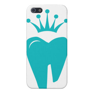 Dentist iPhone Cover Cute Tooth Crown Logo Blue iPhone 5/5S Cover