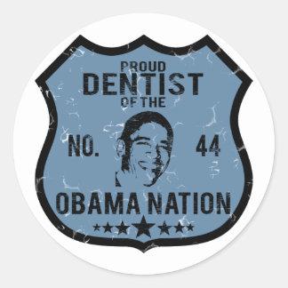 Dentist Obama Nation Classic Round Sticker