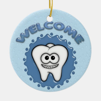 Dentist Office Door Hanger Ceramic Ornament
