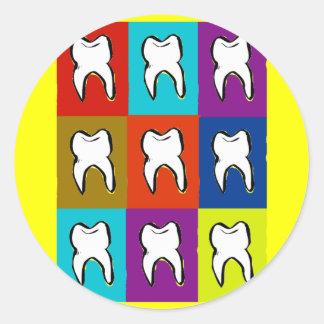 Dentist Popart Gifts Round Sticker