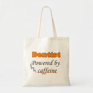 Dentist Powered by caffeine Budget Tote Bag