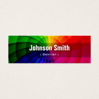 Dentist - Radial Rainbow Colors Mini Business Card