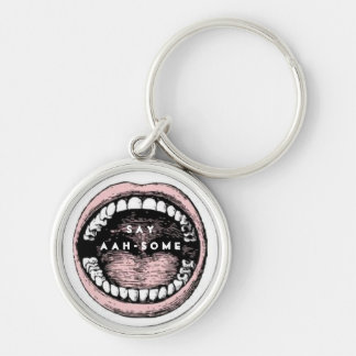 Dentist Silver-Colored Round Key Ring