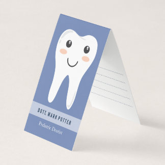 Dentist smiling tooth appointment card