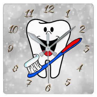 Dentist Square Wall Clock
