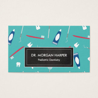 Dentist Tools Pattern | Pediatric Dentistry Business Card
