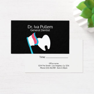 Dentist Tooth and Toothbrush Business Card