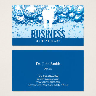 Dentist Tooth & Water Professional Dental Care Business Card