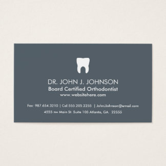 Dentistry Professional Slate Grey Business Card