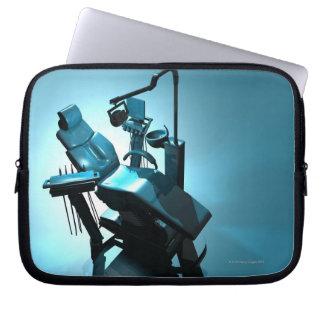 Dentist's chair, computer artwork. laptop computer sleeve