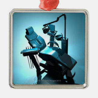 Dentist's chair, computer artwork. metal ornament