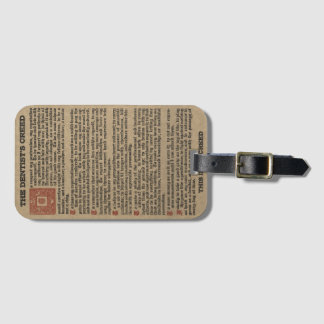 Dentist's Creed Luggage Tag