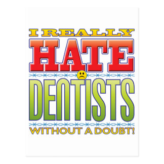 Dentists Hate Face Postcard