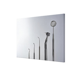 Dentist's instruments canvas print