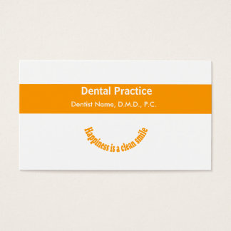 Dentists Modern Text Design Dental  Appointment Business Card