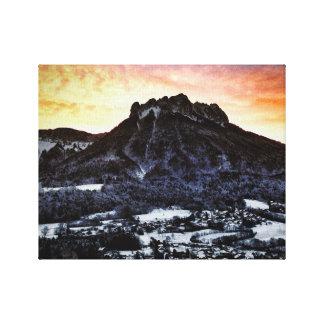 Dents de Lanfon, French Alps Canvas Print