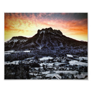 Dents de Lanfon, French Alps Photo Print