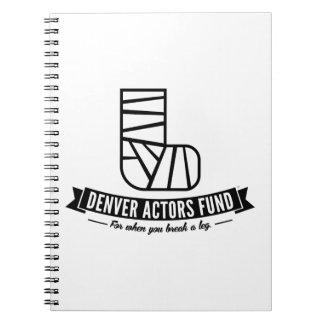 Denver Actors Fund Gifts Spiral Note Book
