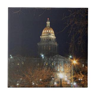 Denver At Night 1 Tile