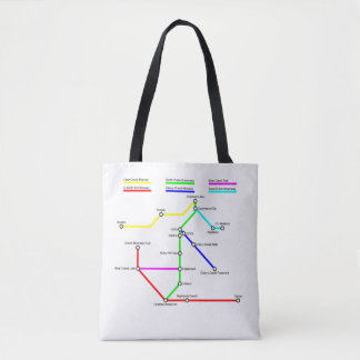 Denver Bike Map Tote Bag