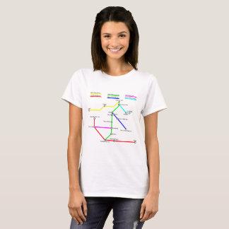 Denver Bike Map Women's T-Shirt