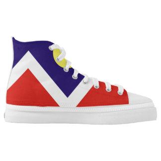 denver city flag america symbol usa high tops