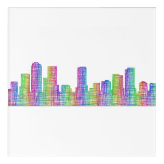 Denver city skyline acrylic print