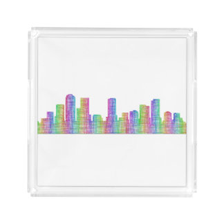 Denver city skyline acrylic tray