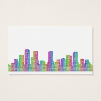 Denver city skyline business card