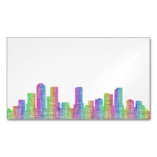 Denver city skyline Magnetic business card