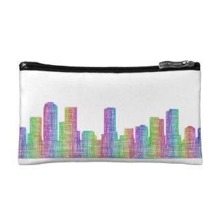 Denver city skyline makeup bag