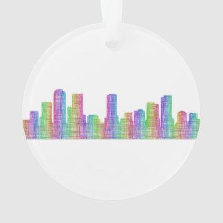 Denver city skyline ornament