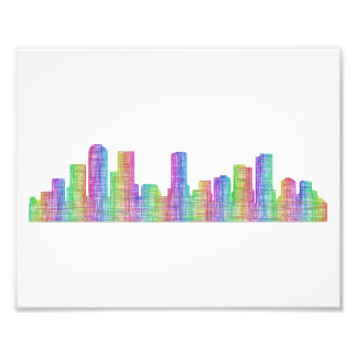 Denver city skyline photo print