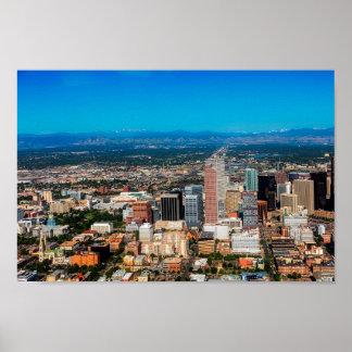 Denver City Skyline Poster
