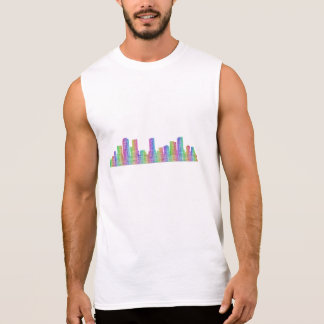 Denver city skyline sleeveless shirt