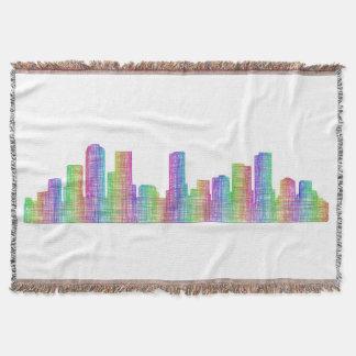 Denver city skyline throw blanket