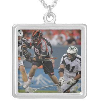 DENVER, CO - JUNE 25:  Brendan Mundorf #2 Silver Plated Necklace